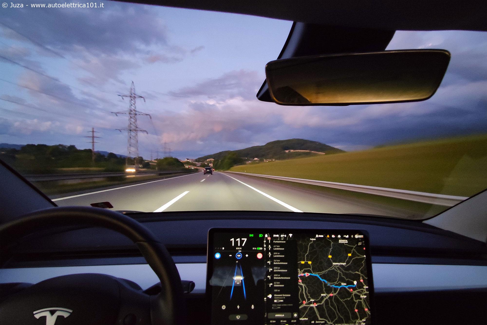 Auto elettrica su lunghe percorrenze