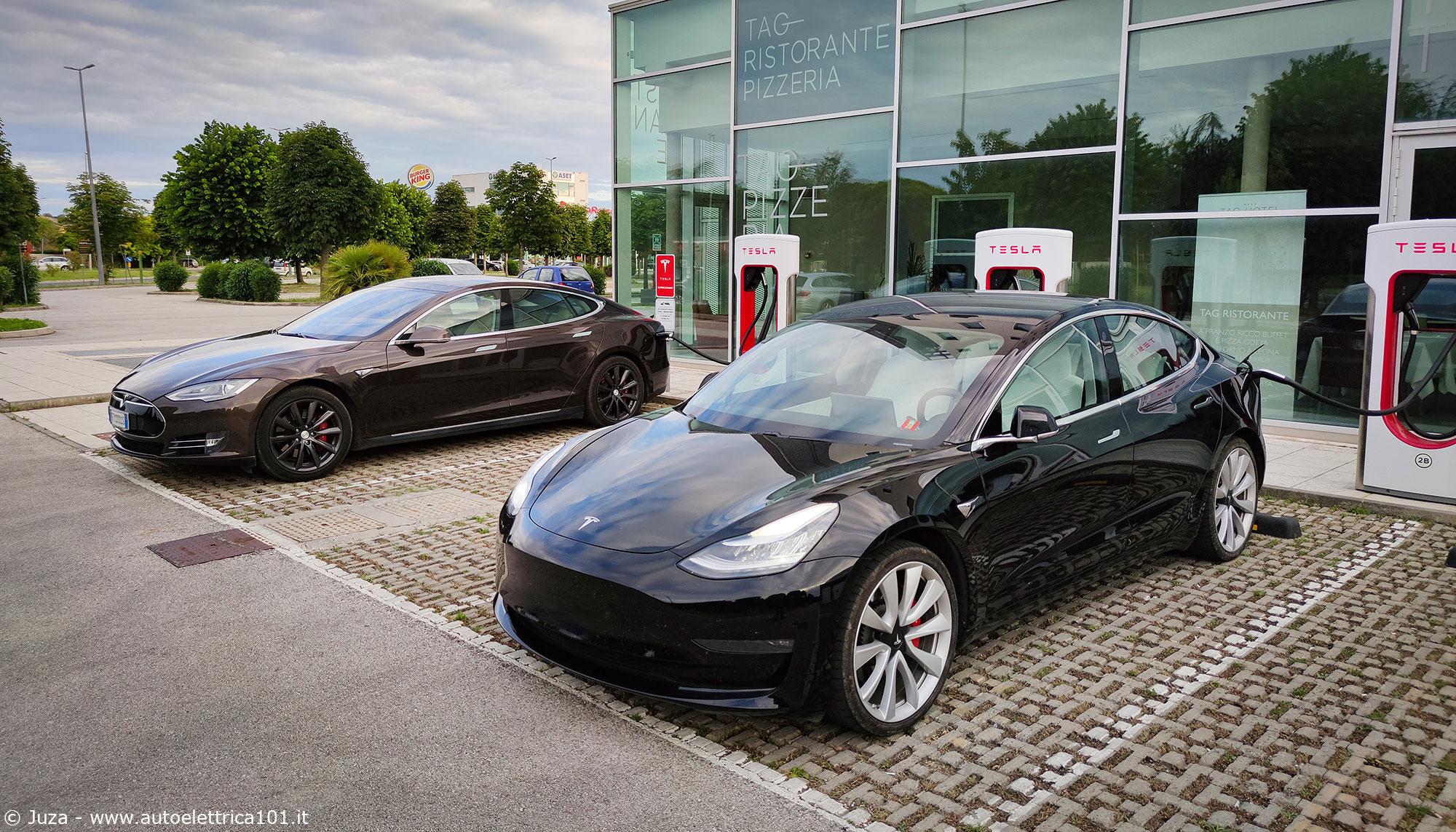 Tesla su lunghe percorrenze