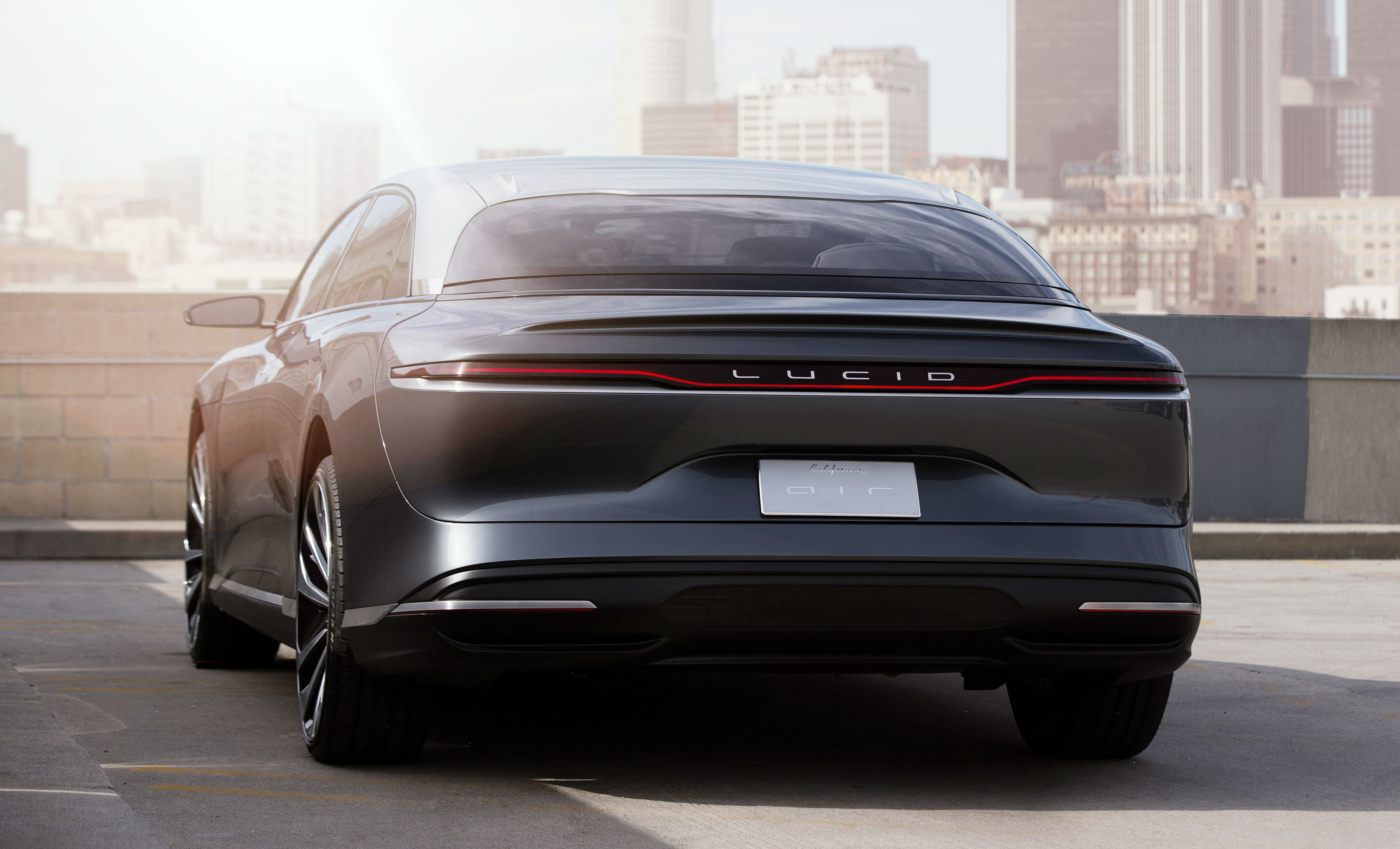 Lucid Air, vista posteriore