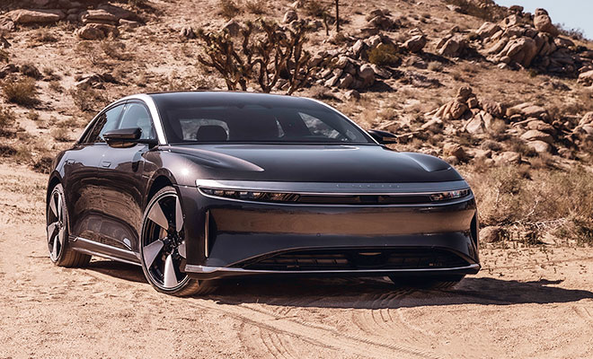 Lucid Air, laterale